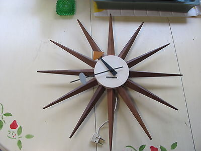 Original Howard Miller Iconic Spike Wall Clock George Nelson Vintage 1950s/60s