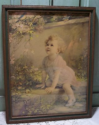 antique vintage Home of the Bluebird zula kenyon framed print picture