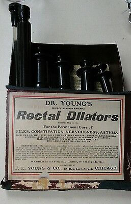 Vintage 1892 Dr. Young's Rectal Dilators With Org Box