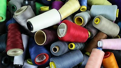 HUGE LOT of 12 LBS of Multiple Colored Sewing Thread Spools - Thousands of Yards