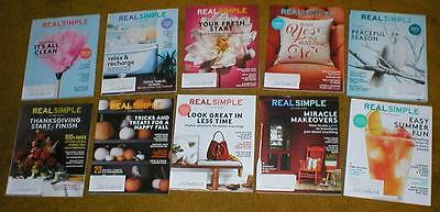 Wholesale Lot of 10 Real Simple Magazines - July 2016 Through April 2017 - New