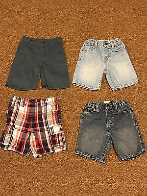 """Lot Of """"4"""" Toddler Boys Shorts US Size 3T"""