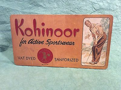 Rare 1940's Vintage Golf Advertising Sign Sportswear Golfer Counter Top Display
