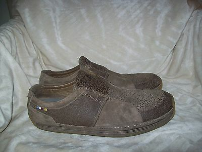 Mens The North Face Brown Leather Slip On Slides Loafers Shoes Size 9