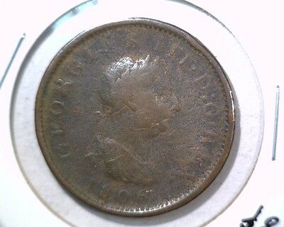 1806 Great Britain Penny Coin KM#663 Geo III