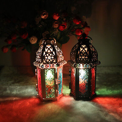Retro Hollow Candle Holder Candlestick Hang Lantern Moroccan Cage Style Decor La