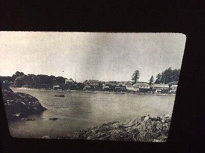 "Edward Curtis ""Nootka Village"" Native American photography 35mm slide"