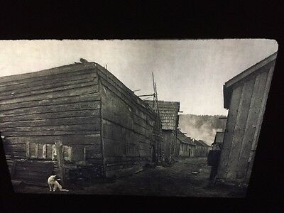 "Edward Curtis ""Village Neah Bay"" Nootka Native American photography 35mm slide"