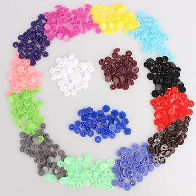 Lots 100 Sets Size 20/T5 Resin Buttons Popper For Clothes Bib Diapers