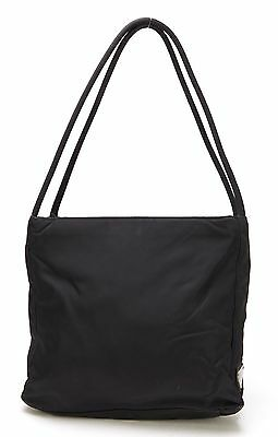 PRADA Authentic Black Tessuto Nylon Shoulder Bag