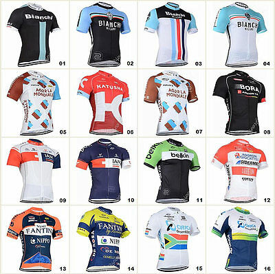 16 style Bicycle Team Road Bike Clothing Jerseys Short Sleeve Tops Riding Shirt