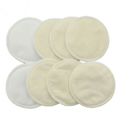 4 Pcs Feeding Pad Reusable Bamboo Breast Waterproof Nursing Pads Mum Washable