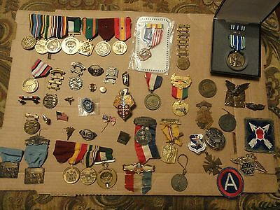 Wwii Vietnam War Era Us Army Military Lot Medals Patch Challenge Coin Pin Ribbon