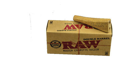 RAW Wooden Cigarette Holder Double Barrel King Size