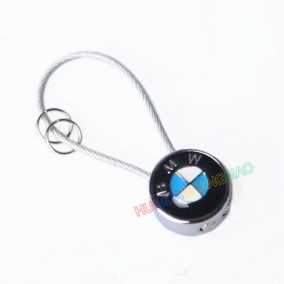 Creative Mini Steel Wire Keychain keyring Key Holder Pendant Car Logo For BMW