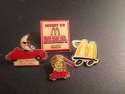 McDonald's Collector Pins Including Mac Tonight Drive Thru Pin