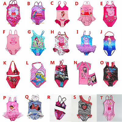 Girl Swimwear Swimsuit Tankini Bather Peppa Pig Monster High Frozen Mickey Mouse