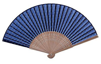 Salutto Hand Fan with Beautiful Fabric Musical Note Printed
