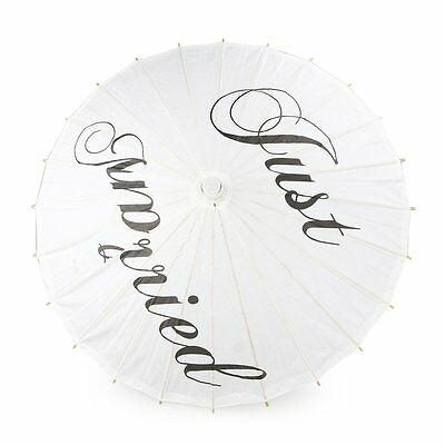 Tinksky Paper Parasol Umbrella Just Married Wedding Bridal Party Photography