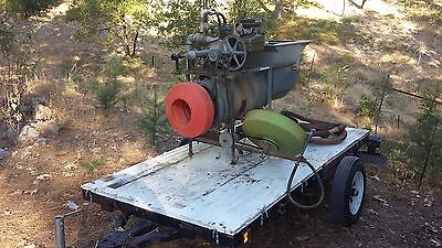 Gold Screw Reverse Helix Gold Trommel and Trailer