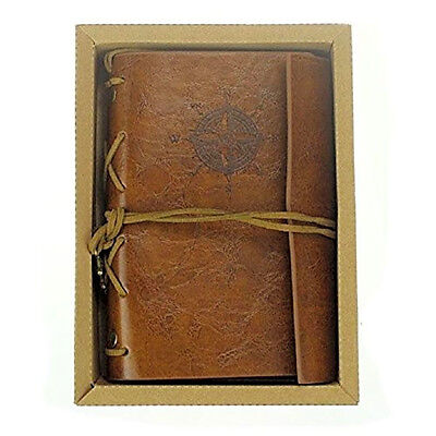 Leather Journal Blank Diary Retro Notebook Travel Poetry Vintage Journal Diary