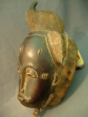 Lot 66, Fine Baule Mask with intricate Coiffure, Ivory Coast.