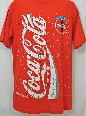 Vintage COLA COLA 1994 Coke Brand Red T-Shirt Size LARGE L