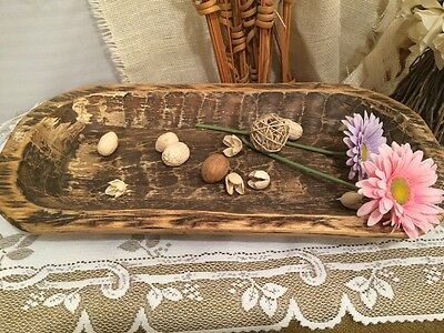 Primitive/Rustic/Country Hand Carved Large Trencher/Dough Bowl -Centerpiece