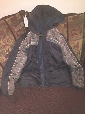 BOYS IXTREME Puffer Lined Hood Winter Coat JACKET 14/16 Brown