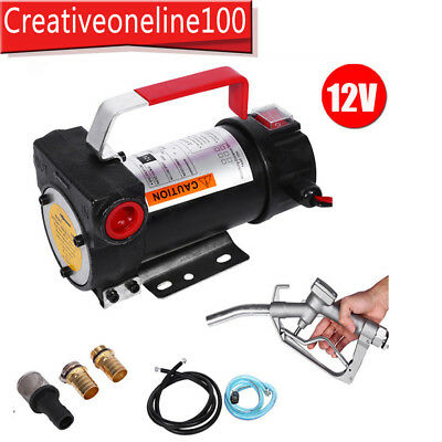 Portable 12V Diesel Fluid Extractor Electric Transfer Pump Car Fuel Auto Speed A