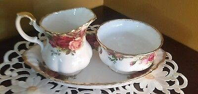 Royal Albert old country roses Cream and Sugar essentials
