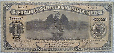 1914 One Peso Note