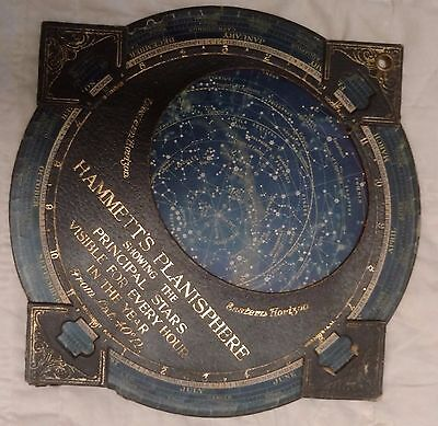 Antique Vintage Hammet's Planisphere Celestial astrology star gazing map