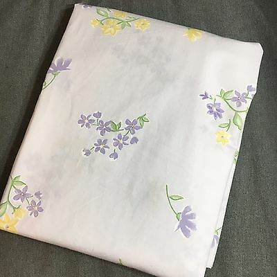 NWT Pottery Barn Shabby Kids Toddler Crib Duvet Cover  Purple Yellow Flowers