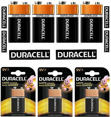 2x Duracell 9V Battery Long Lasting Power Alkaline Batteries,Smoke Alarms MN1604
