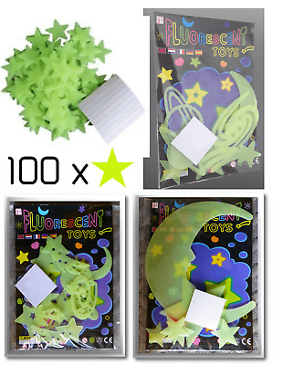 Glow in the Dark Stars Luminous Planets Moon Space FAST FREE 1st Class Delivery