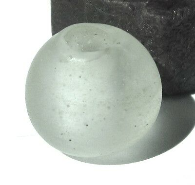 RARE LARGE AMAZING OLD CLEAR DUTCH DOGON ANTIQUE BEAD AFRICAN TRADE 17mm x 18mm