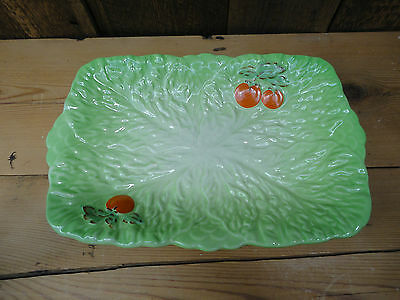 Vintage Beswick Ware Made In England Green Lettuce Tomato Serving Dish