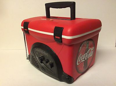 Coke Cooler And Radio By Duragear Am Fm