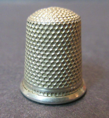 Vintage Star Sterling Silver Thimble Size 6