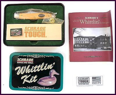 RARE NEW 1980's Schrade 881Y Knife Whittlin' Kit & Booklet w/Package Box Set