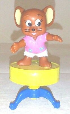 Tom & Jerry Figure Jerry On Top Of Table Vintage 1989 Turner Entertainment