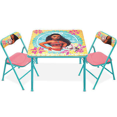 Superb Disney Moana Kids Activity Table And Padded Folding Chairs Evergreenethics Interior Chair Design Evergreenethicsorg
