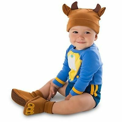 NEW Beauty and BEAST Baby COSTUME 18-24M Disney Store HALLOWEEN Infant Outfit
