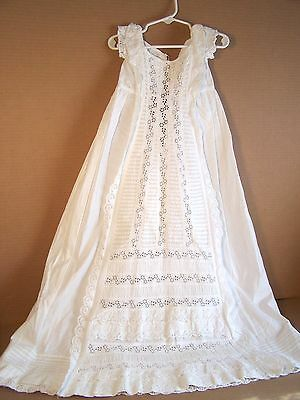 Antique Christening Gown Princess line with Ruching