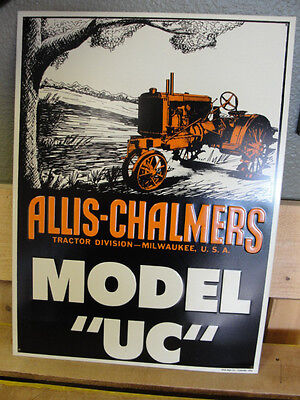 "Allis Chalmers Tractor  MODEL "" UC "" Tractors & Machinery Metal Sign"