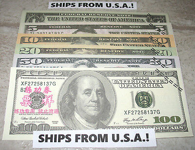 18 Movie Prop Fake Play Money Novelty Notes! Training Banktells! Ships From Usa!