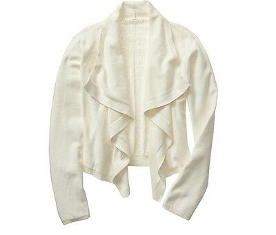 NWT GAP Kids Girl's Pointelle Open Front Cardigan Sweater Size XS(4-5)