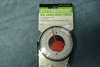 Magnetic Base Dial Gauge Angle Finder 0 to 90 Degree Indicator  NEW PITTSBURGH