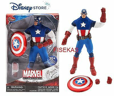 "Disney Store Marvel Ultimate Series Captain America Action Figure 11.5"" 2016 NEW"